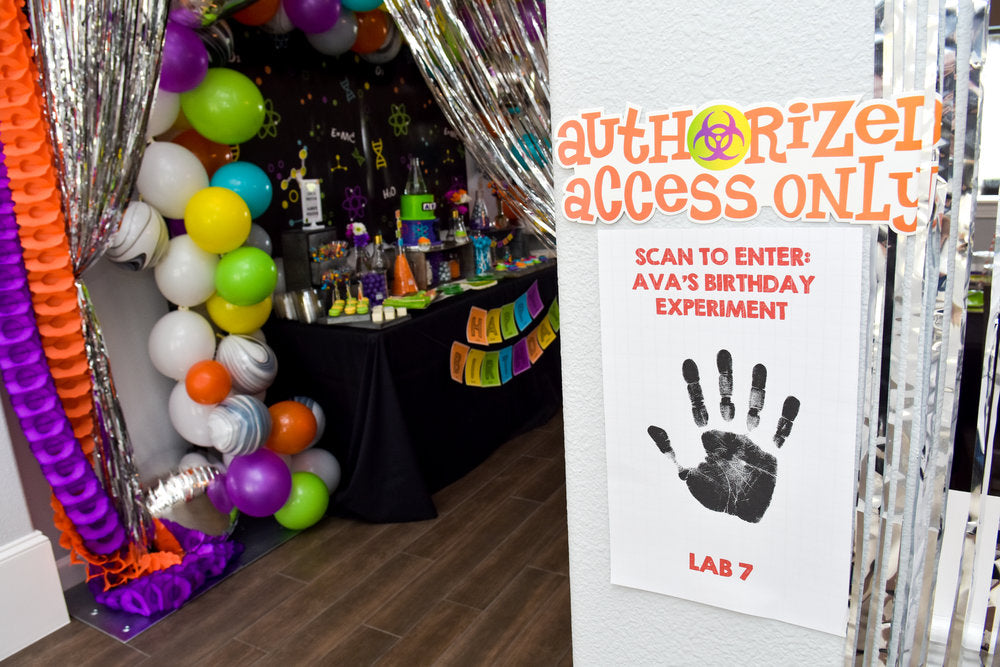 "Closeup of ""Authorized Access Only"" handprint sign"