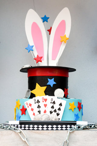 magic themed birthday cake