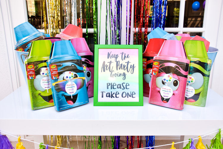 Crayola activity book party favors
