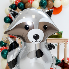 raccoon party balloon woodland theme