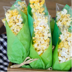 farm themed birthday party corn husk popcorn