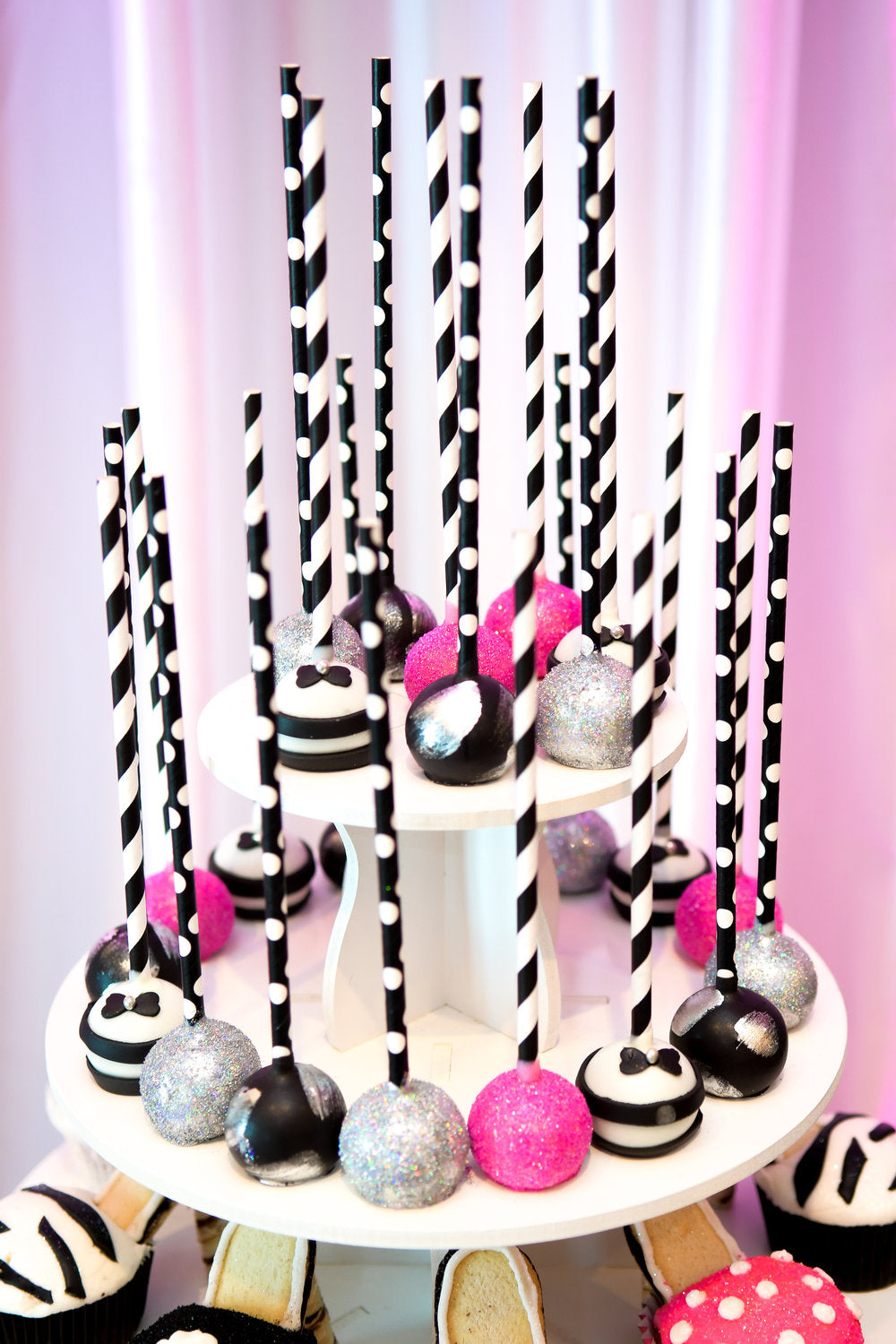 Closeup of cake pops