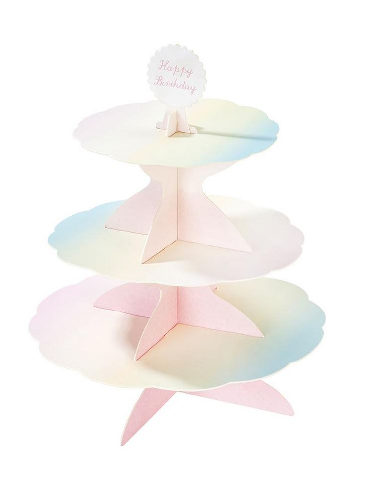 3-Tier Reversible Cupcake Stand Tabletop Talking Tables