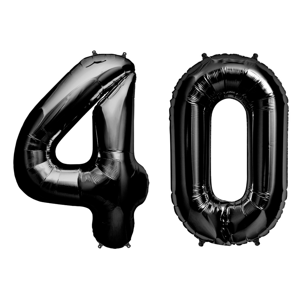 Black Number Balloons 34""