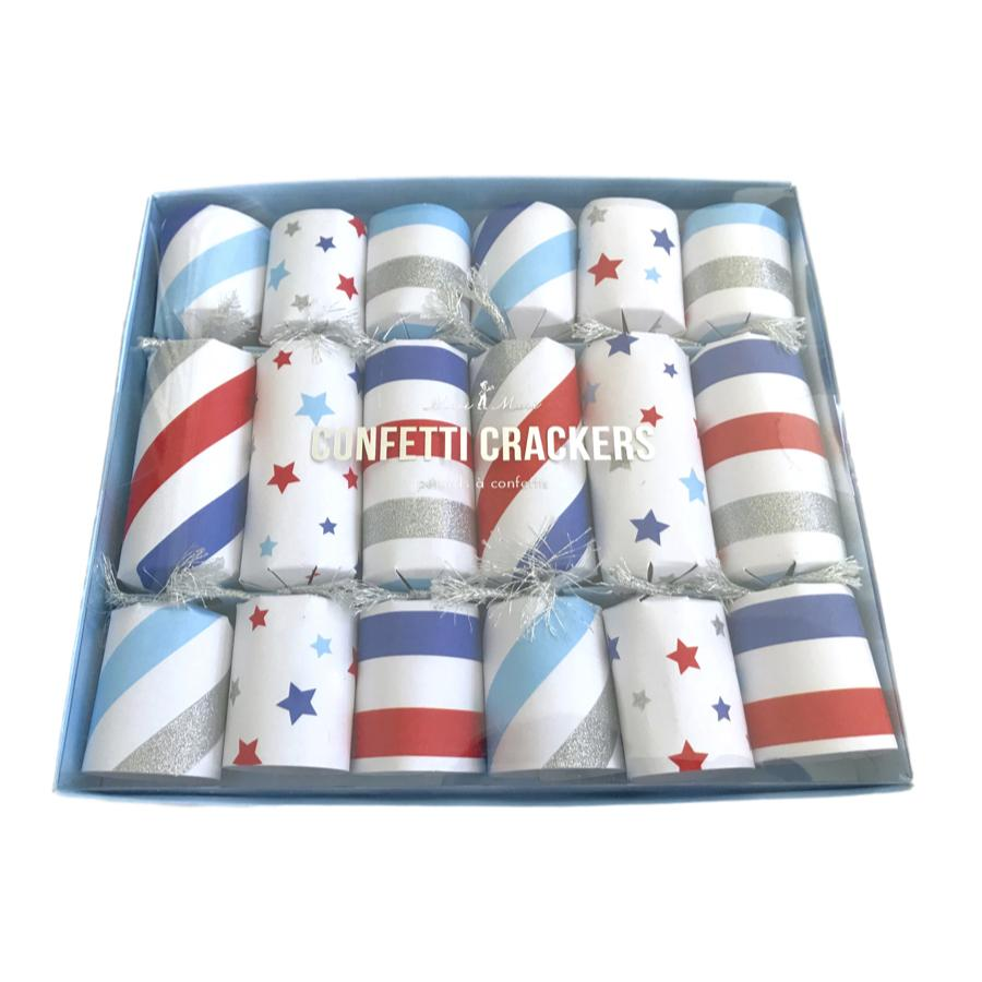 Americana Confetti Crackers Decor Meri Meri