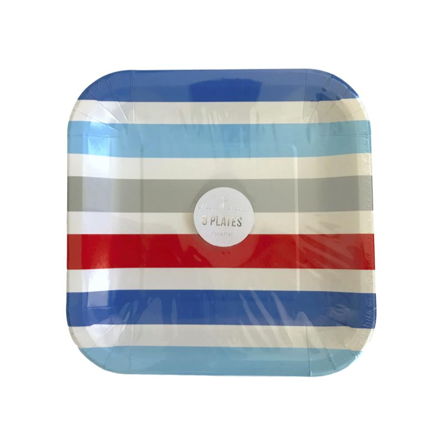 Americana Striped Plates Tabletop Meri Meri