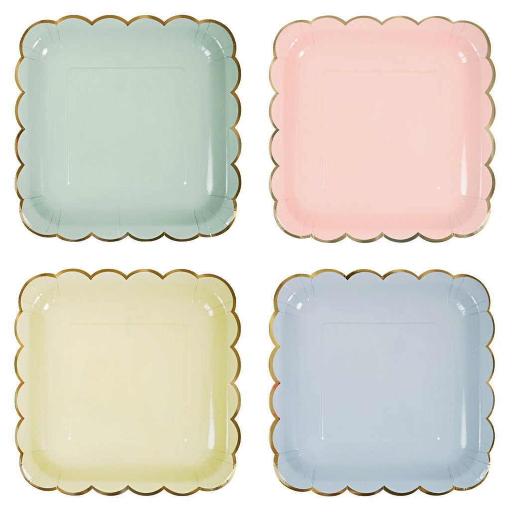 Assorted Pastel Plates (Lg) Tabletop Meri Meri