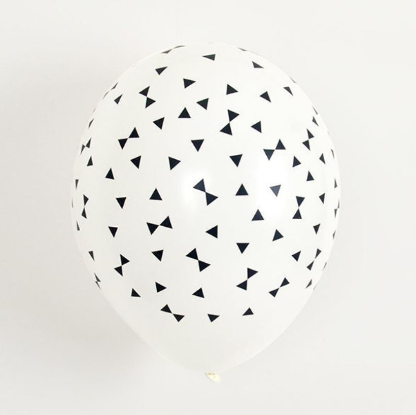 Black Tie Patterned Latex Balloons Balloons My Little Day