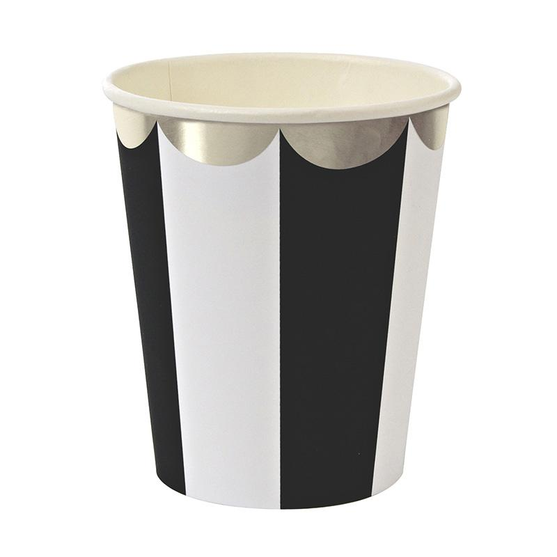 Black & White Striped Cups Tabletop Meri Meri