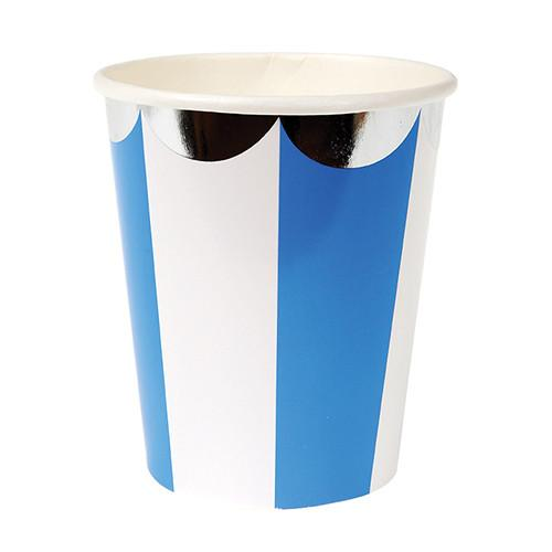 Blue & White Striped Cups Tabletop Meri Meri