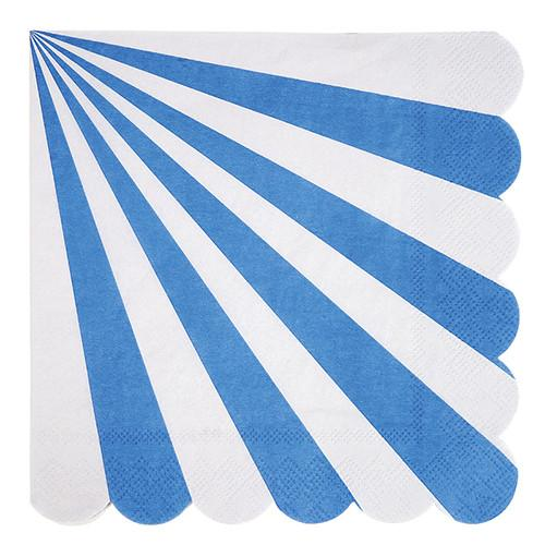 Blue & White Striped Napkins (Lg) Tabletop Meri Meri