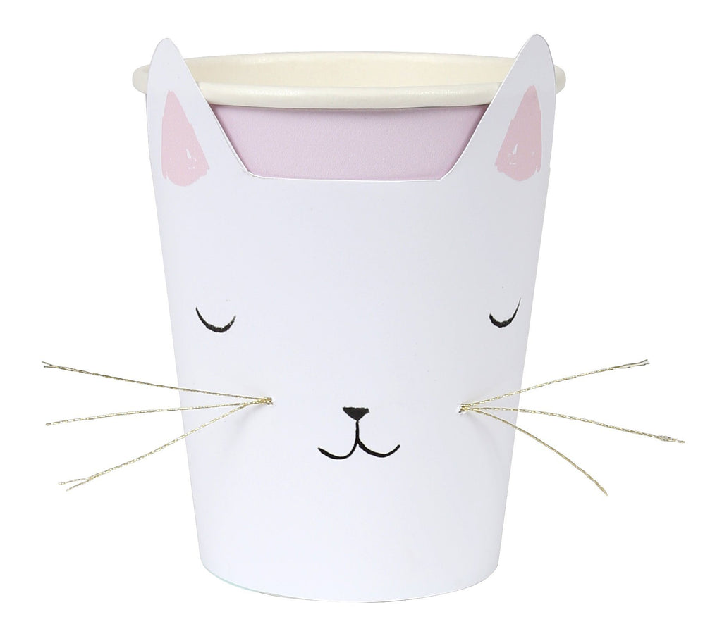 Cat with Whiskers Cups Tabletop Meri Meri