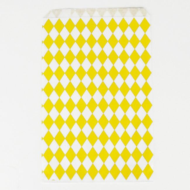 Diamond Favor Bags/Yellow Decor My Little Day