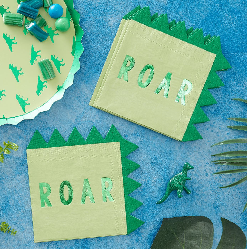Dinosaur Roar Napkins Tabletop Ginger Ray