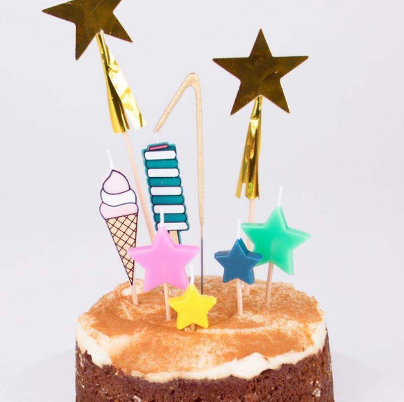 Disco Stars Candles Tabletop My Little Day