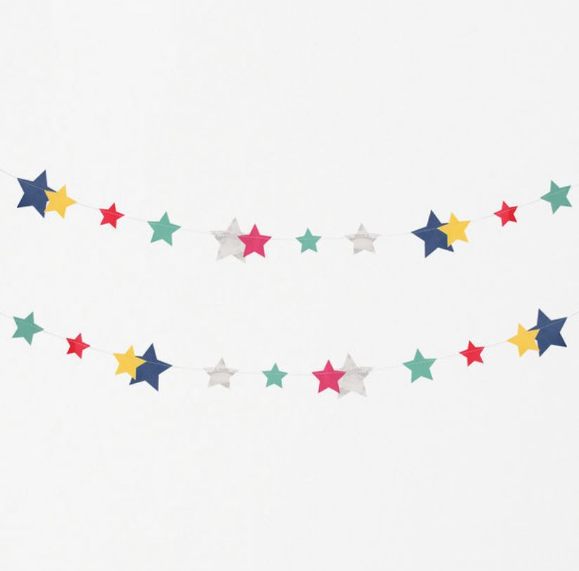 Disco Stars Garland Decor My Little Day