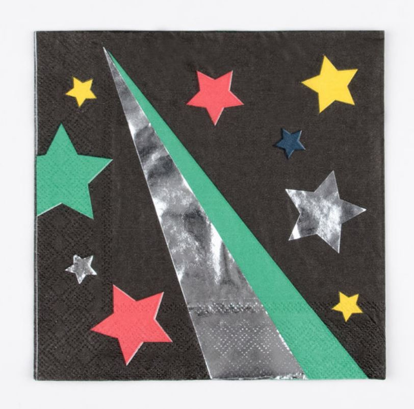 Disco Stars Napkins Tabletop My Little Day