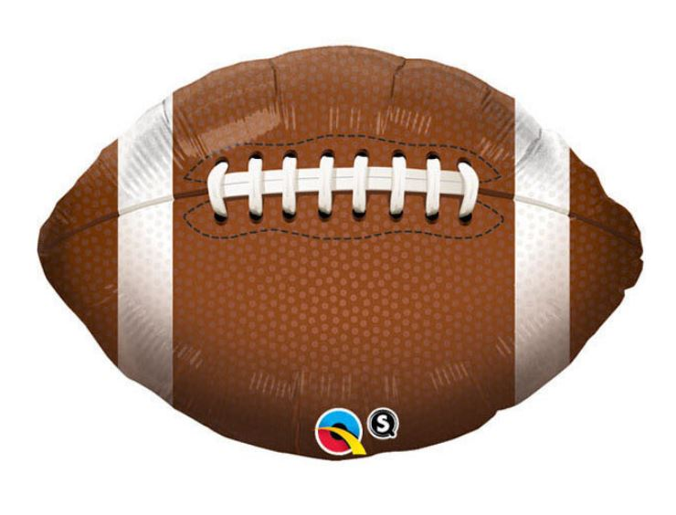 "Football Shaped Balloon 18"" Balloons Rainbow Balloons"