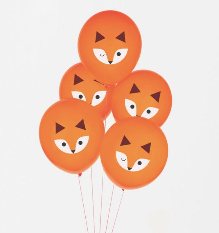 Fox Patterned Latex Balloons Balloons My Little Day