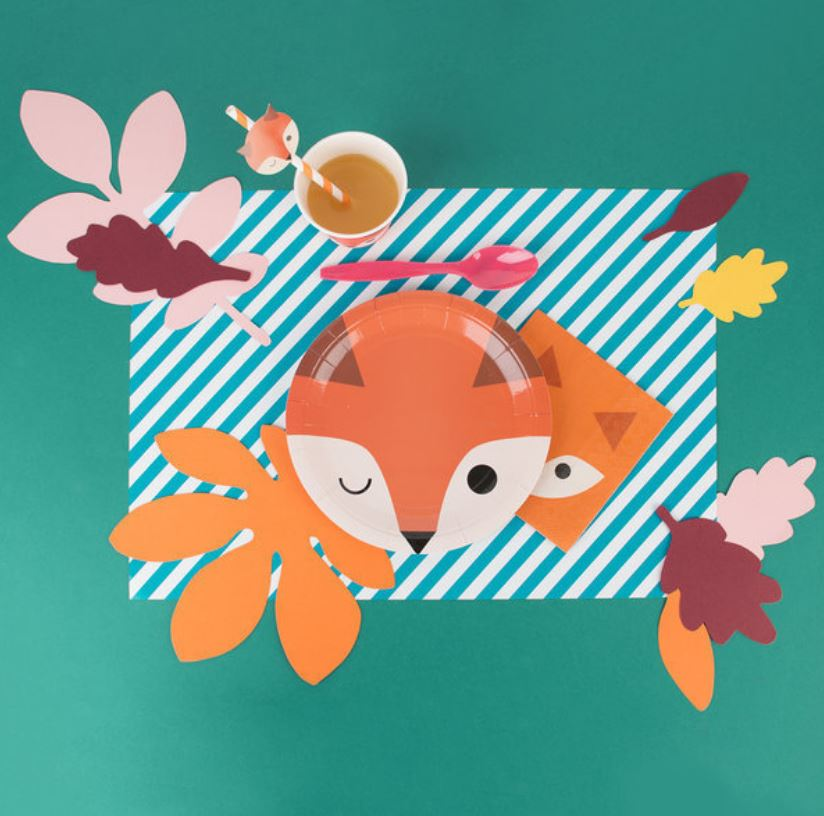 Fox Plate Tabletop My Little Day