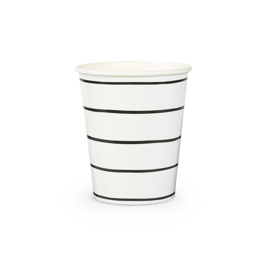 Frenchie Stripe Cups Tabletop Daydream Society Black Ink