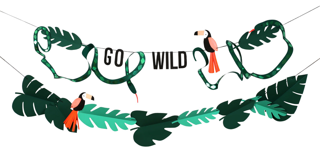 """Go Wild"" Garland Decor Meri Meri"