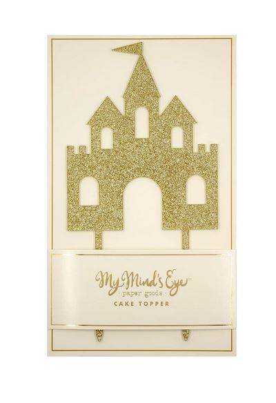 Gold Glitter Castle Cake Topper Cake & Cupcake My Mind's Eye