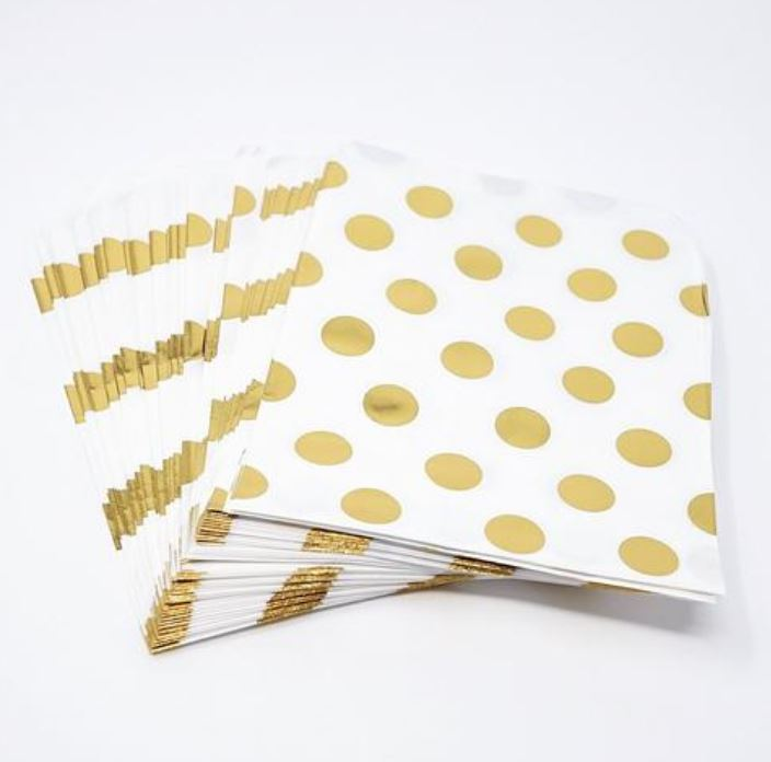 Gold Polka Dot Treat Bags Decor Lou & Pepper Party Shop