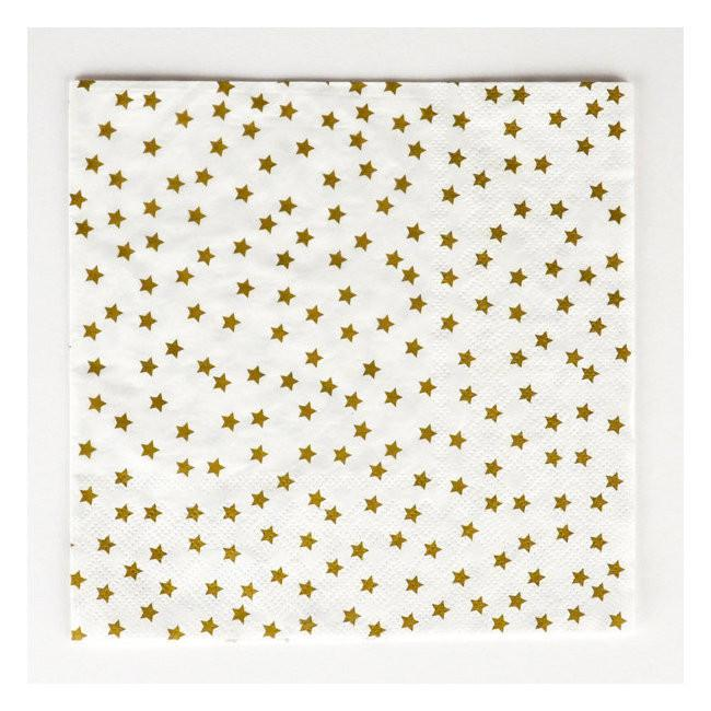 Golden Star Napkins (Lg) Tabletop My Little Day