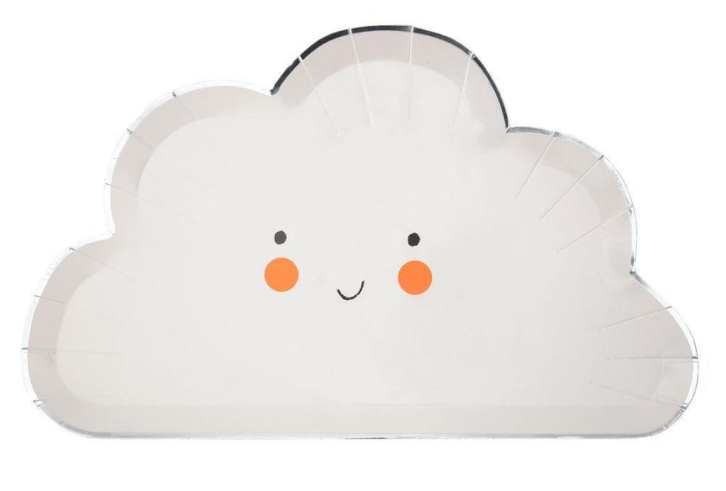 Happy Cloud Plates Tabletop Meri Meri