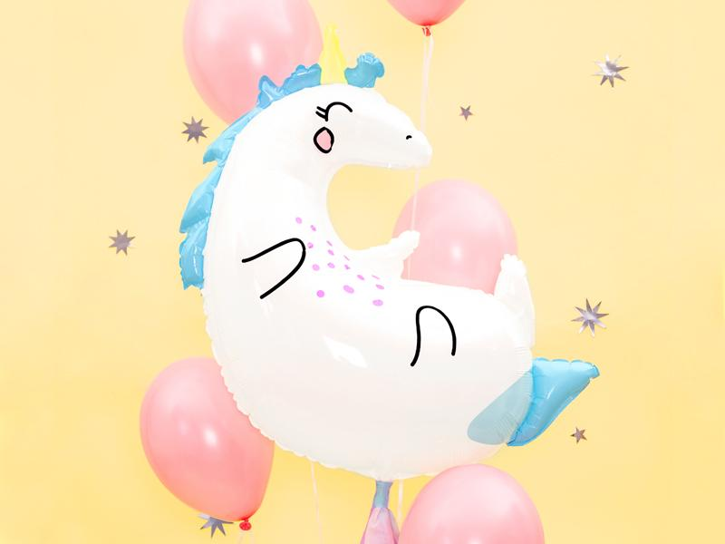 "Happy Unicorn Balloon 28"" Balloons Party Deco"