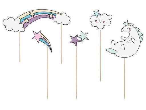 Happy Unicorn Cake Topper Cake & Cupcake Party Deco