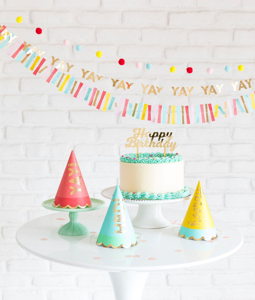 Hip Hip Hooray Mini Banner Set Decor My Mind's Eye