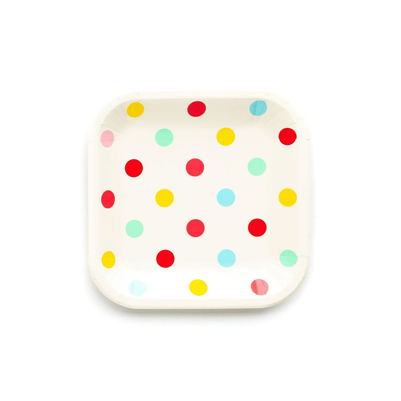 Hip Hip Hooray Polka Dot Plates (Lg) Tabletop My Mind's Eye