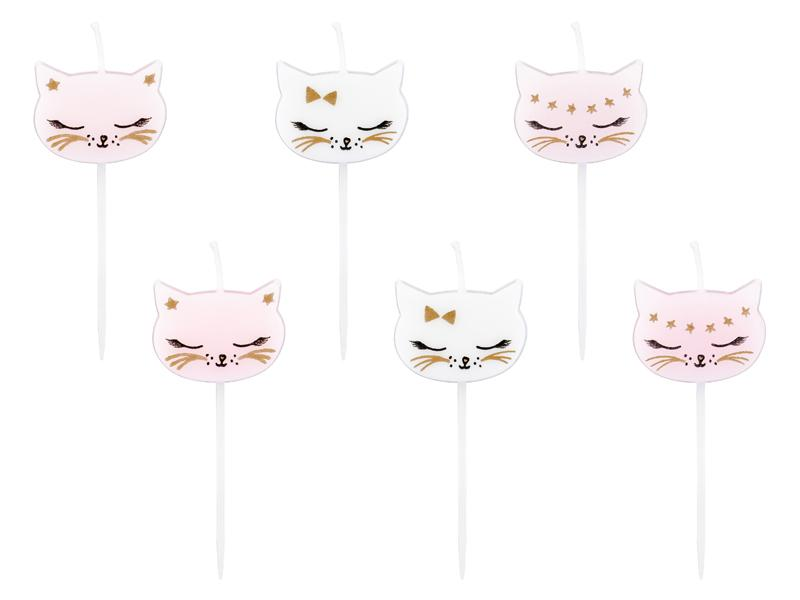 Kitty Cat Candles Cake & Cupcake Party Deco