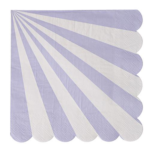 Lavender Striped Napkins (Sm) Tabletop Meri Meri