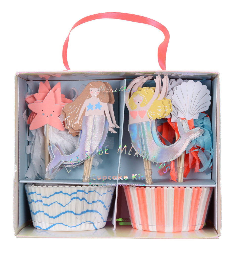 Let's Be Mermaids Cupcake Kit Decor Meri Meri