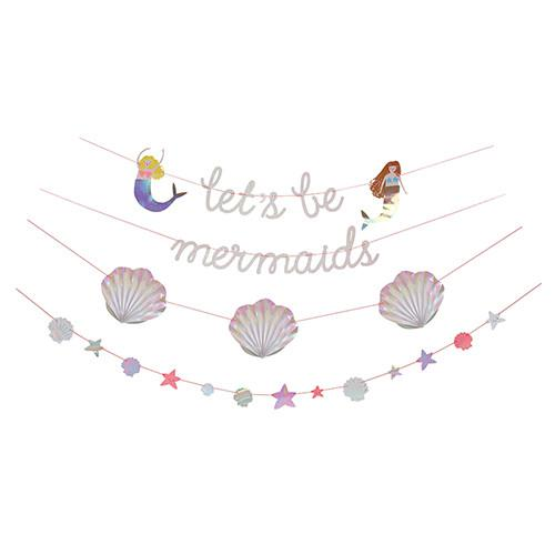 """let's be mermaids"" Garland Decor Meri Meri"