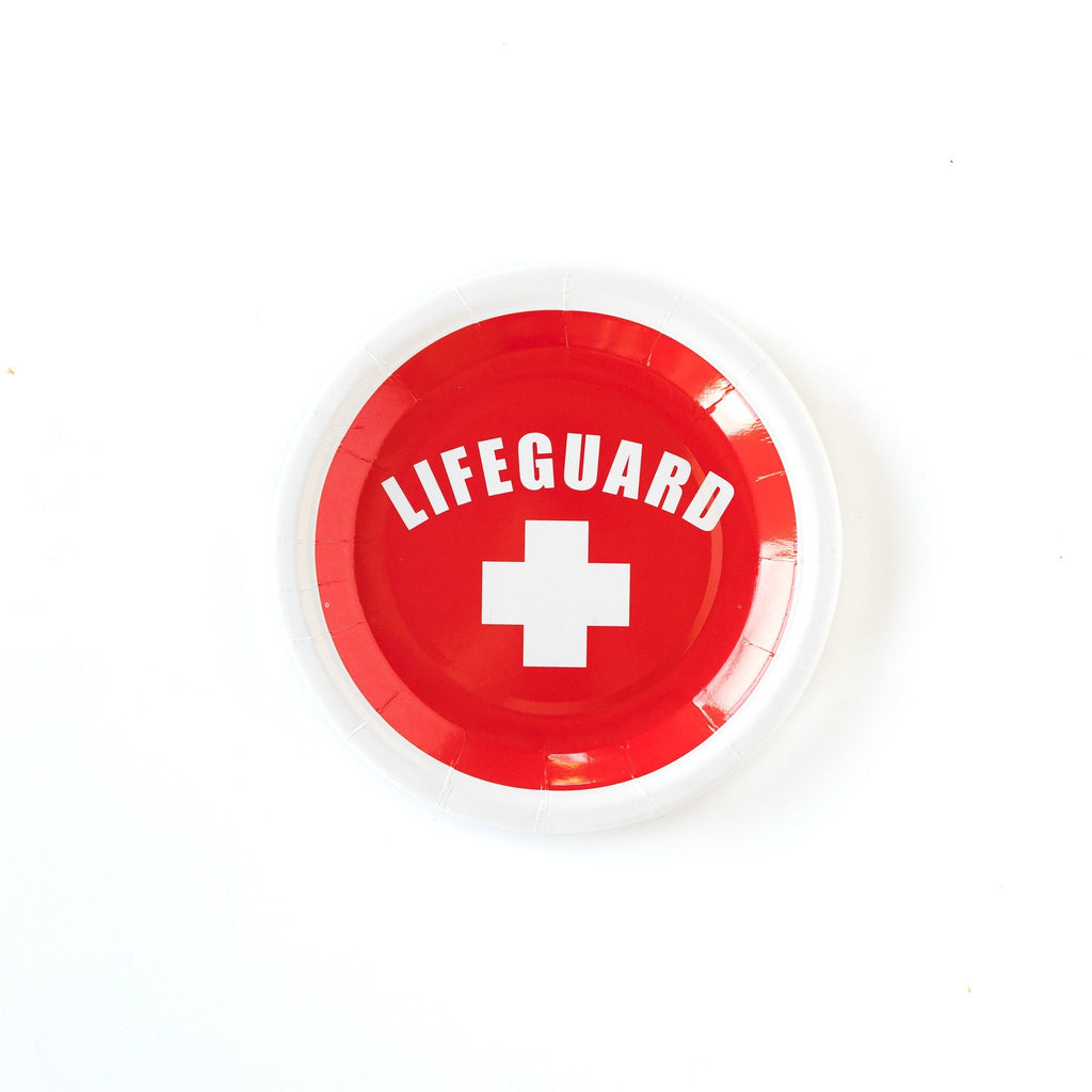 Lifeguard Plates (Sm) Tabletop My Mind's Eye