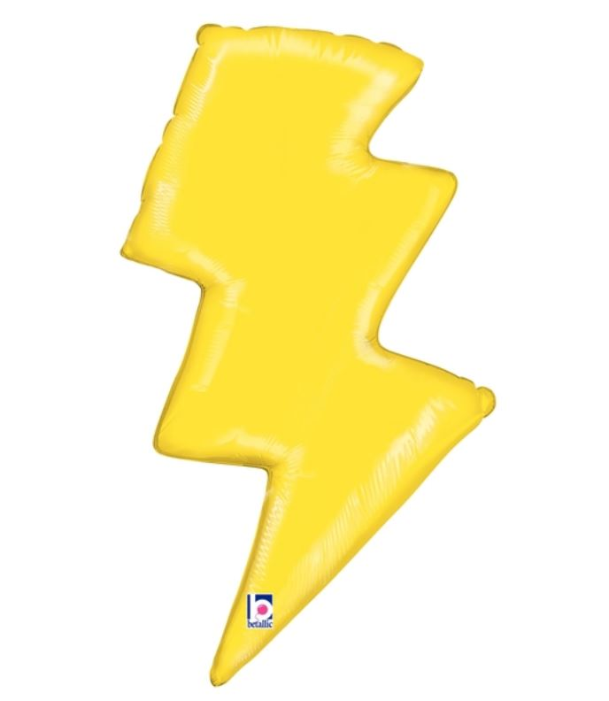 "Lightning Bolt Shaped Balloon 36"" Balloons Bargain Balloons"