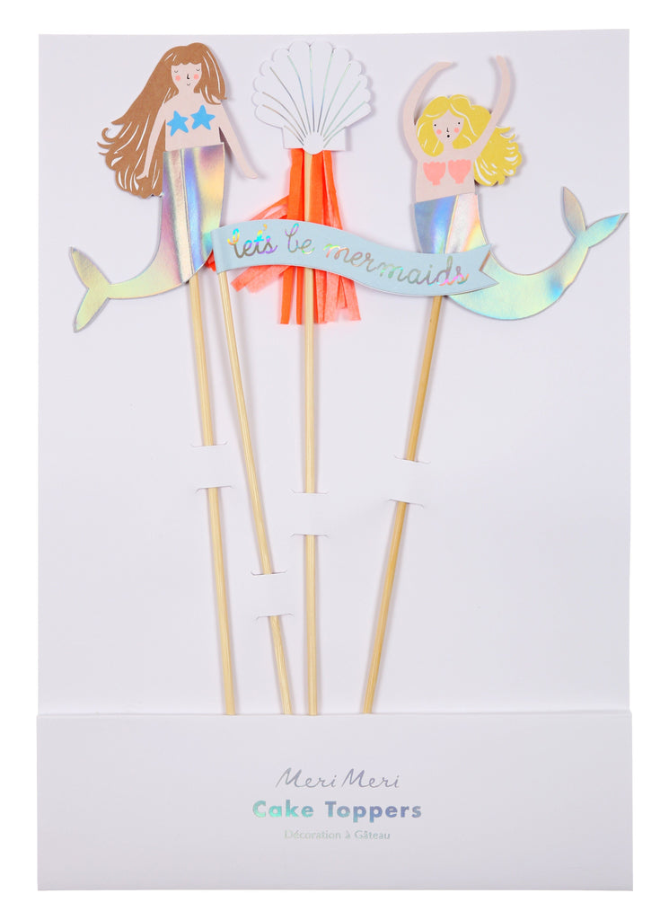 Mermaid Cake Topper Tabletop Meri Meri