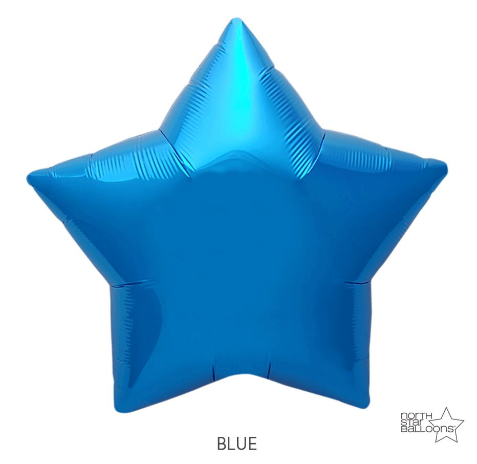 "Mylar 22"" Star Balloon Balloons Northstar Blue"