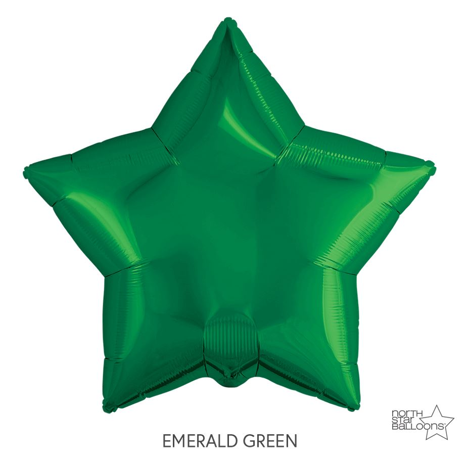 "Mylar 22"" Star Balloon Balloons Northstar Green"