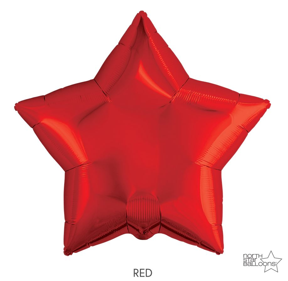 "Mylar 22"" Star Balloon Balloons Northstar Red"