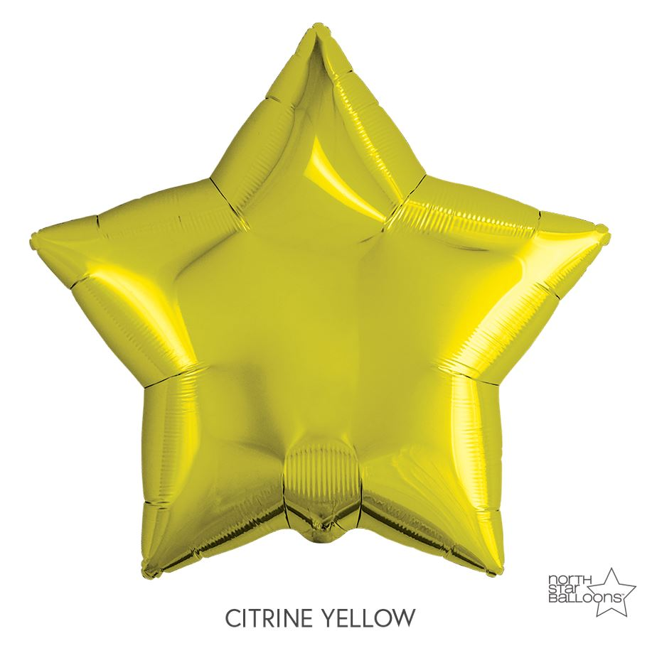 "Mylar 22"" Star Balloon Balloons Northstar Yellow"