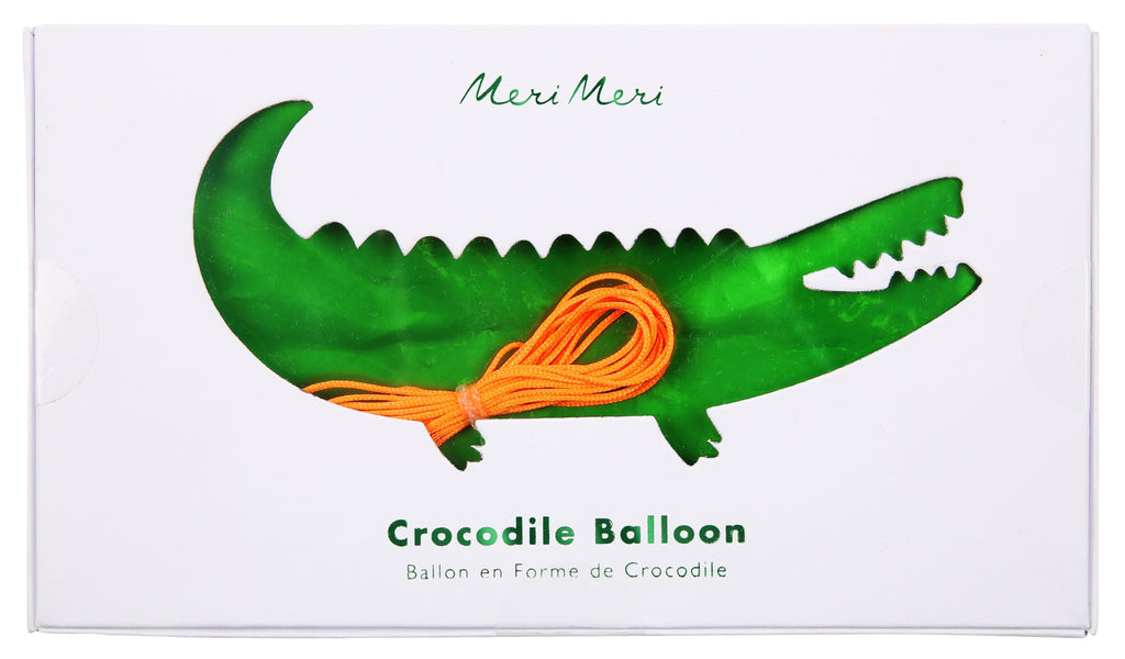 Mylar Crocodile Balloon Decor Meri Meri