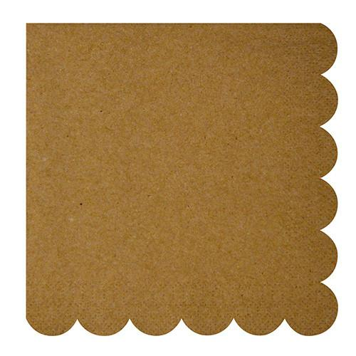 Natural Scallop Edge Napkin (Lg) Tabletop Meri Meri