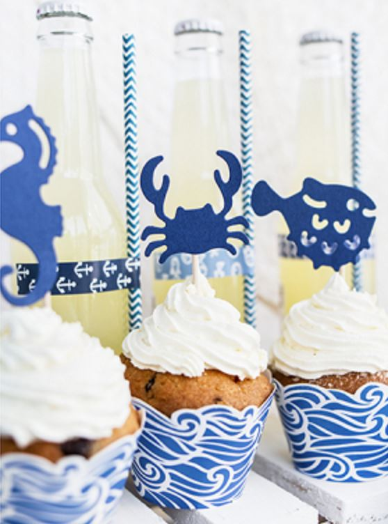 Nautical Cake Topper Cake & Cupcake Party Deco