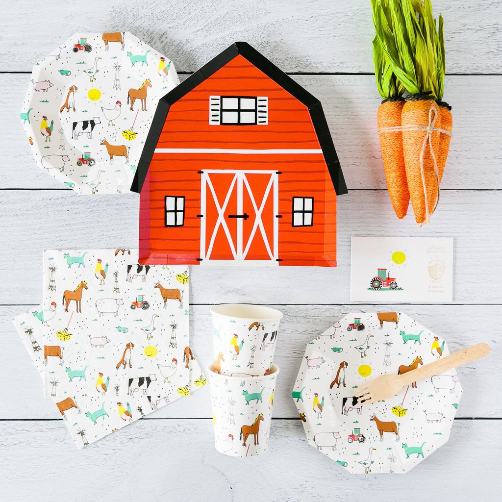 On the Farm Barn Plates (Lg) Tabletop Daydream Society
