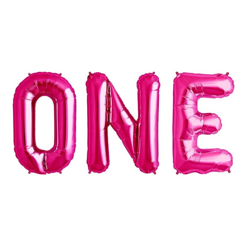 """ONE"" Balloon Kit 34"" Balloons MSR Balloons magenta"